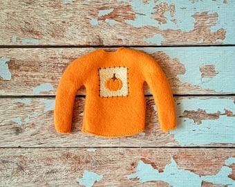 Elf Clothes - Pumpkin Patch Sweater, Halloween Sweater, Elf Halloween, Elf clothes, Christmas Elf, Scout Elf, Original Elf or Plush Elf