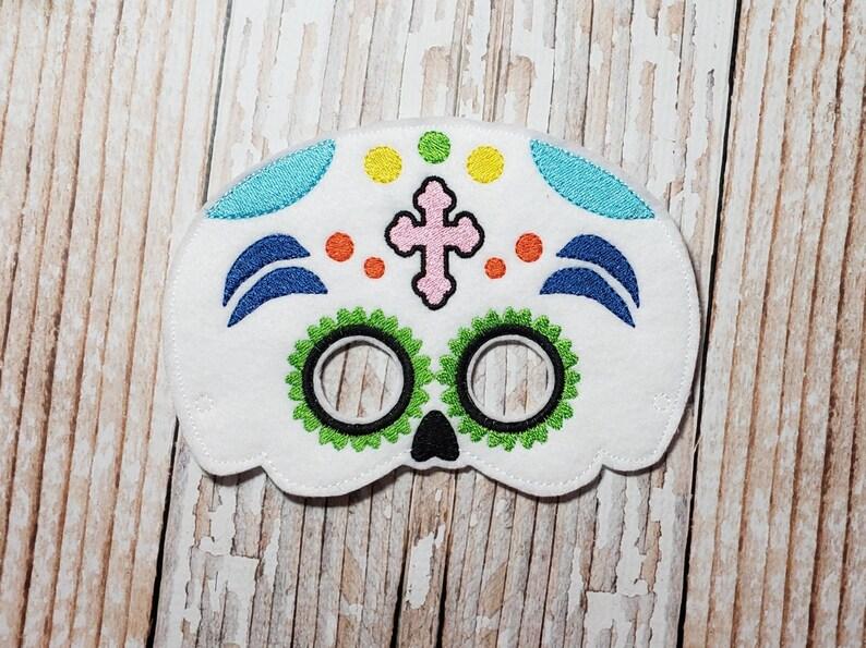 Sugar Skull Mask  felt Sugar Skull mask for Birthday Parties image 0