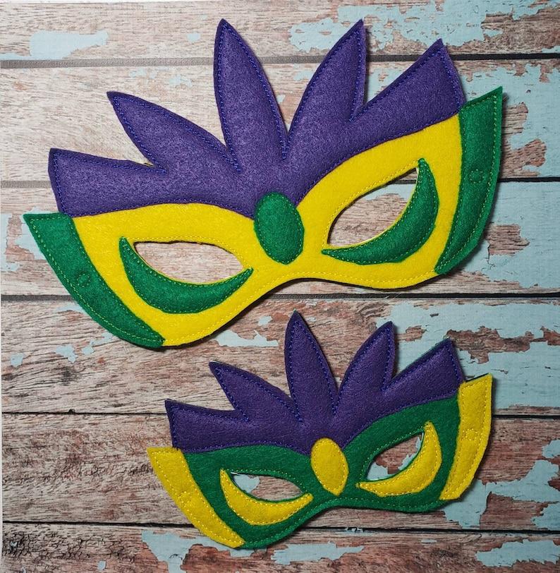 Mardi Gras Mask  felt mask for Mardigras Carnival Parties image 0