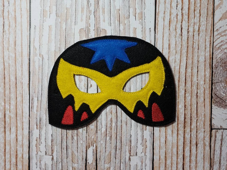 Luchador Mask  felt Luchador mask for Birthday Parties image 0