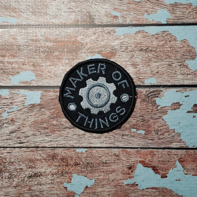 Maker of Things Iron-on patch. Embroidered iron-on badge image 0
