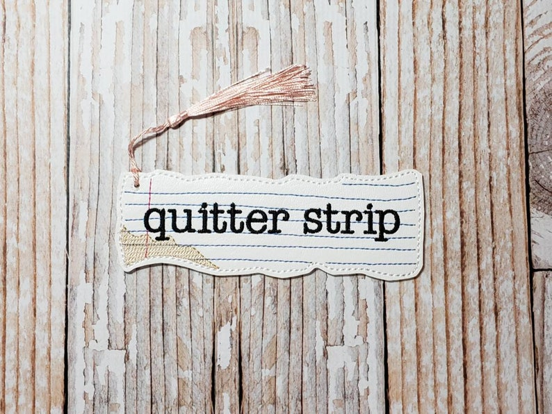 Quitter Strip Bookmark  Notebook Paper Inspired Bookmark image 0