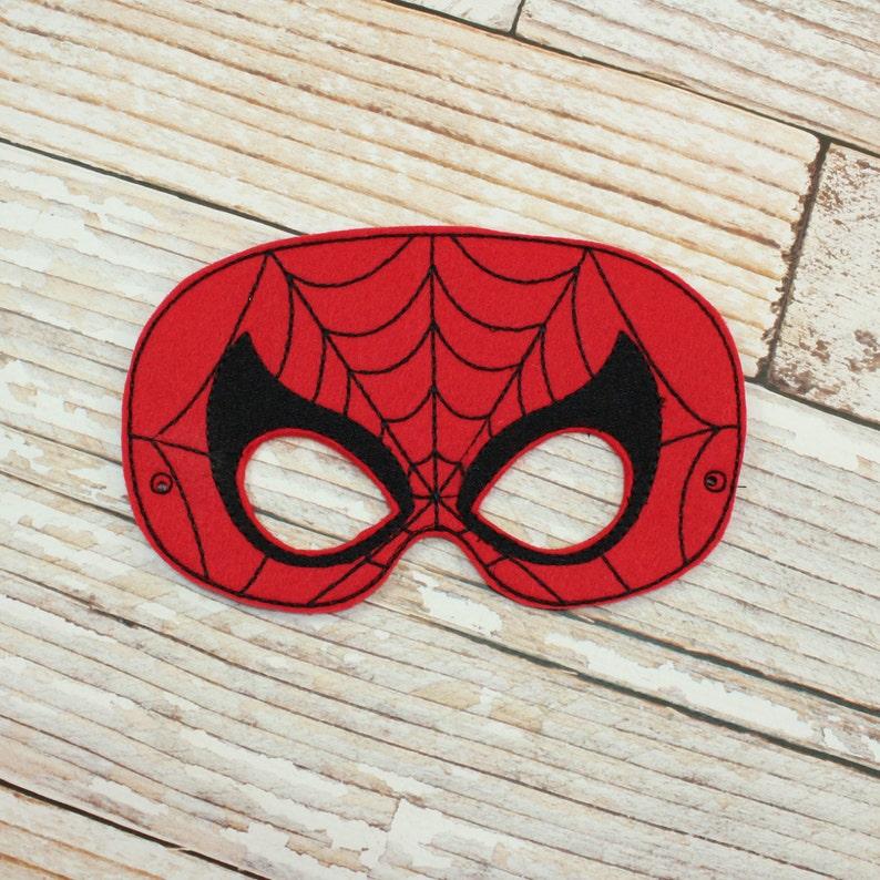 Spiderman Mask  felt Spiderman mask for  Halloween Dress-up image 1