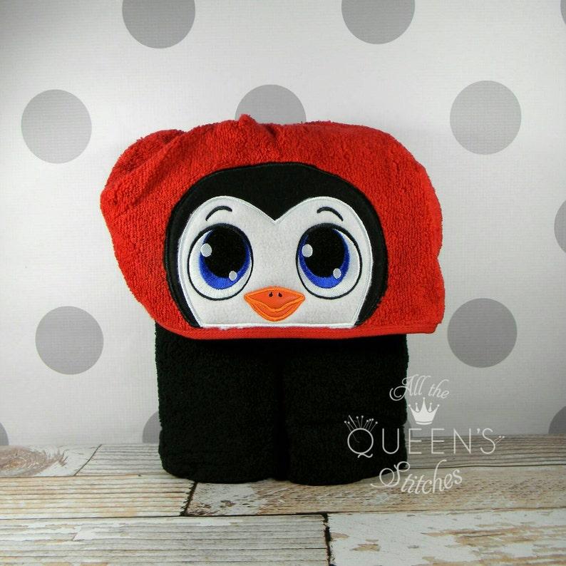 Adult Hooded Towel  Penguin Hooded Towel  Cute Penguin image 0