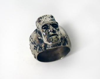 Frankenstein Ring in White or Gold Bronze