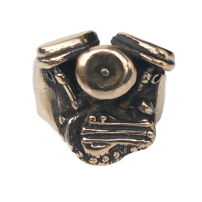 Large Panhead Motorcycle Ring image 0