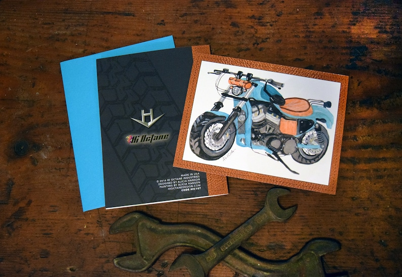 Card for Men Motorcycle /& Leather
