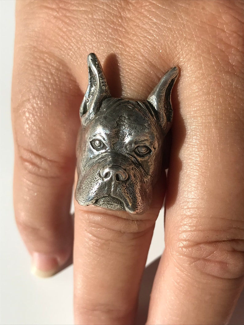 Boxer Dog Lover Ring image 0