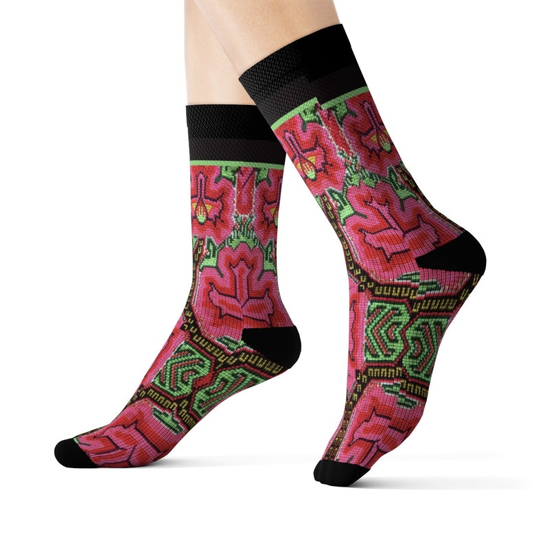 Hmong Embroidered Style Socks image 0