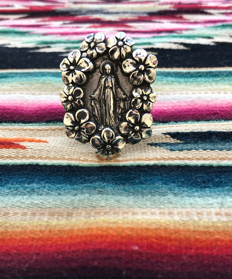 Miraculous Mary & Our Lady of Guadalupe Ring image 0
