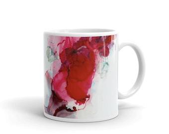 Abstract Alcohol Ink Art Mug, Coffee Mug, Painted Mugs, Gift Mug, Best Friend Gift