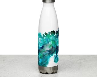 Stainless Steel Water Bottle, art bottle, gift for teacher, travel bottle, abstract art , art gift, gift for her