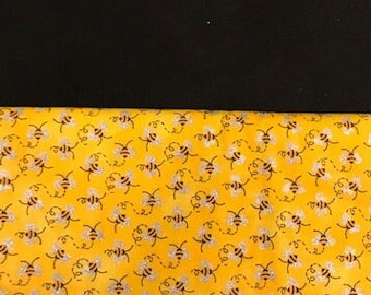 20 CHAIR POCKETS Durable Cotton  BEE  print with black  backers Free Shipping