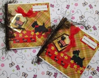Scottie Dog Birthday Card, Tartan Scottie Card, Birthday Wishes, Scottish Birthday Card Male or female