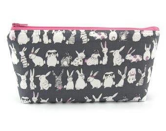 39de42acb2 Cheeky Bunny Rabbit Cosmetic Bag