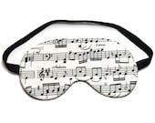 Items similar to Music Sheet Sleep Eye Mask on Etsy