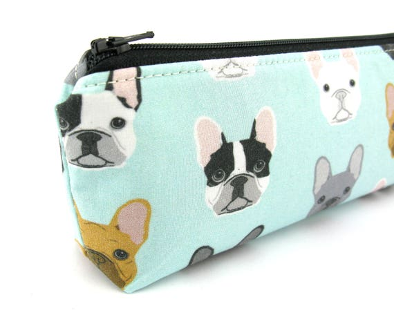 FRENCHIE// FRENCH BULLDOG MAKE UP BAG FAST DESPATCH PENCIL CASE UK SELLER