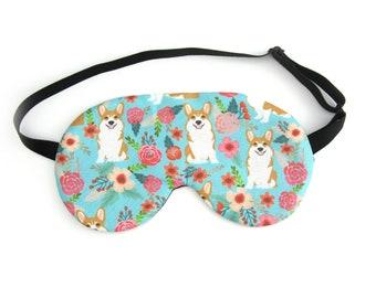 ADJUSTABLE Corgi Dog Sleep Eye Mask, Sleeping Mask, Travel Mask, Eye Mask, Sleep Mask, Travel Gift, Night Mask
