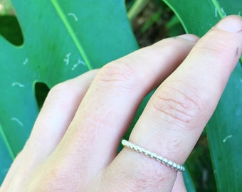 Circle silver stacking ring  // handmade to order // choose your size // recycled sterling silver