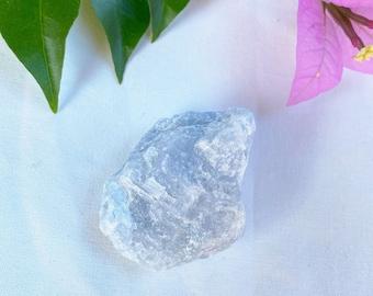 Natural Blue calcite crystal chunk