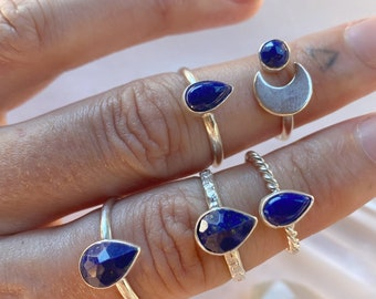 Lapis Lazuli Ring -  Choose One  // sterling silver // Made in Byron Bay