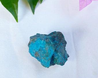 Chrysocolla raw crystal chunk