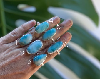 Larimar Ring - Large // sterling silver // Choose your size + style