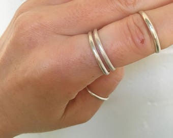 silver stacking ring  // handmade to order // choose your size // recycled sterling silver