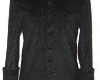 Men's Priest cassock Style Coat Supernal Clothing menswear goth gothic steampunk cyber victorian fantasy costume fetish clubwear matrix