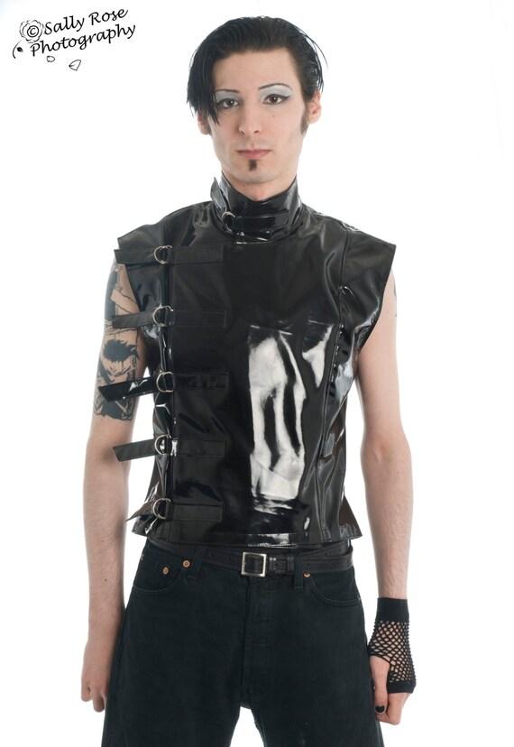 Men's Buckle Jacket goth gothic fetish clubwear cyber industrial menswear sci-fi steampunk punk alternative post-apocalyptic wasteland UUPhdsR