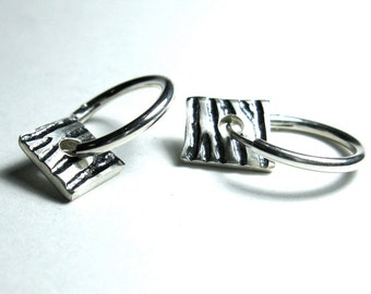 Zebra Striped Hoop Earrings