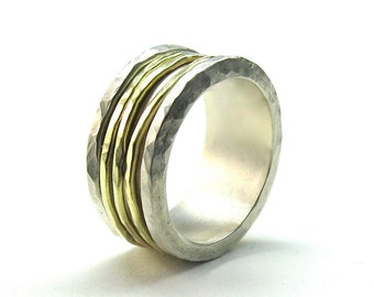 Gold and Silver Spinning Ring