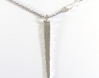 Hammered Big Flat Silver Nail