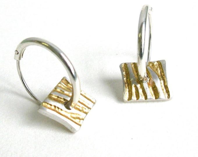 Zebra Striped Charm Earrings