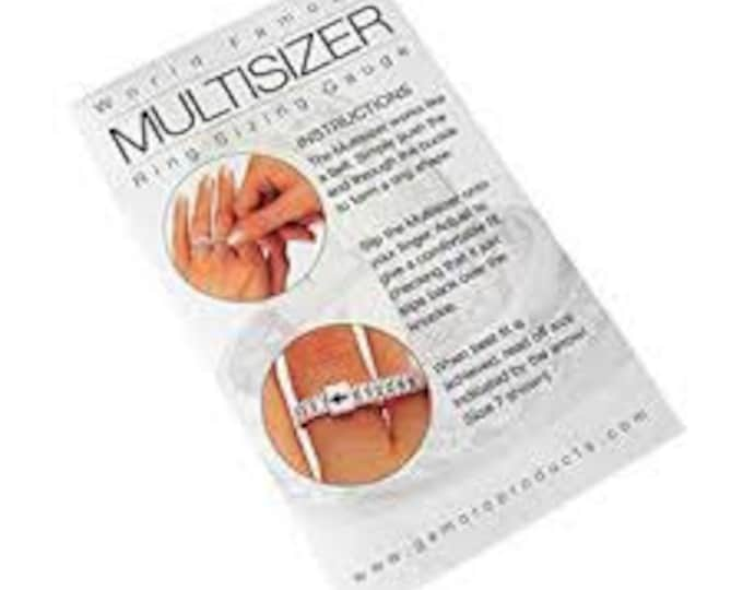 Finger Sizer, Multi-Sizer Adjustable Finger Gauge, Free With your Order, Free Shipping.