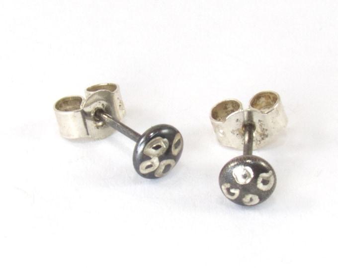 Unisex Leopard Print Stud Earrings, mens earrings
