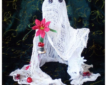 Christmas decoration Yule ghost Winter Solstice holiday home decor Creepmas spirit cheesecloth ghost