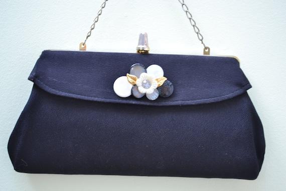 Evening Bag, Fabric Clutch, Black Clutch, Clutch P