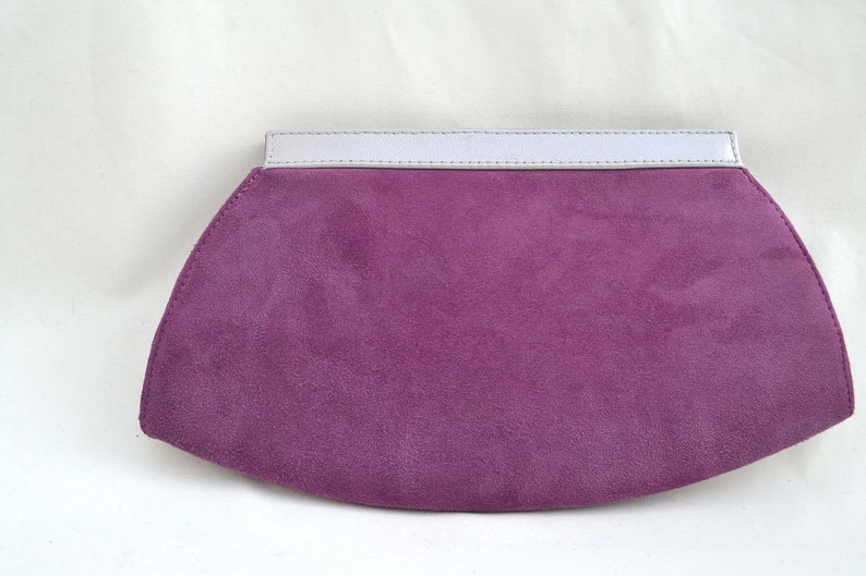 shop for newest discount for sale buy real Purple Clutch Purse, Suede Clutch Bag, Jacques Vert Purse, Vintage Italian  Clutch, Small Clutch Purse, 1980's Purse