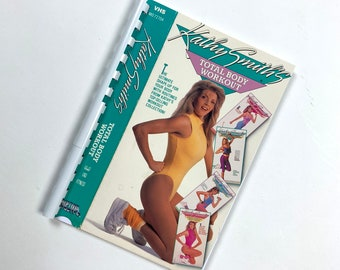 80s WORKOUT Video VHS Notebook. Upcycled Vhs movie Noteboook. 80s WORKOUT Notebook. Video Book vhs. 80s gift