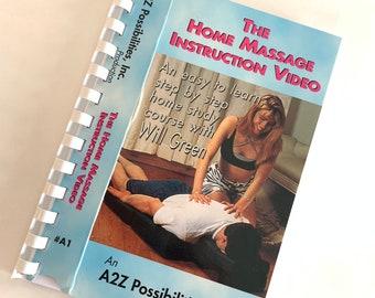 Home massage VHS Notebook Handmade. Handemade VHS Notebook massage 80s. Retro home massage gift