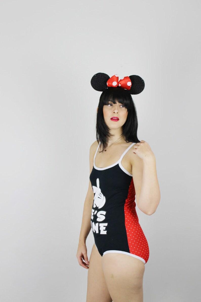 b1722d4ef8 M Handmade Mickey Mouse Bodysuit Handmade Disney Body Suit   Etsy