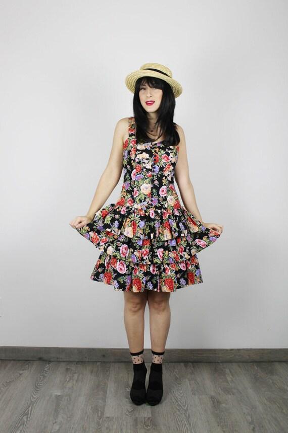 Vintage 80er Jahre Kleid 80er Jahre Blumen Kleid Vintage | Etsy