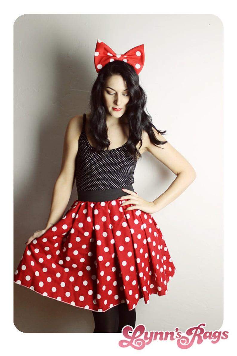 MINNIE MOUSE SKIRT Handmade Disney Skirt  Halloween Costume image 0