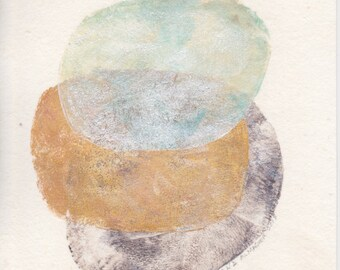 abstract art on paper, abstract wall art, 5 x 7 monoprint