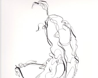Abstract Figure I April 2018, figure, ink line drawing