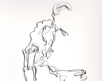 Abstract Figure II April 2018, figure, ink line drawing