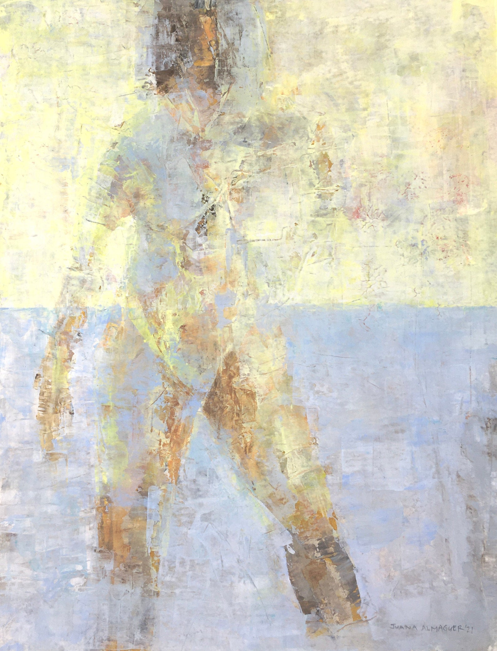 acrylic painting, standing figure, Gallery Juana, Etsy