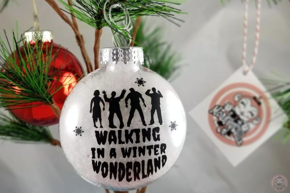 Walking Dead Christmas Ornament Zombies Walking In A Winter Wonderland