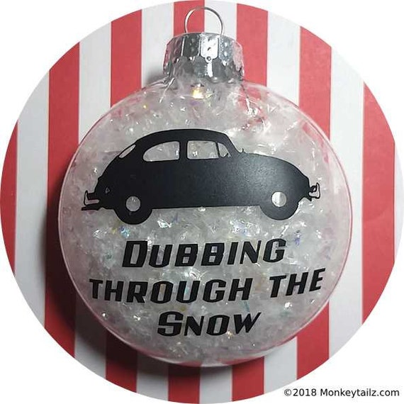 image 0 - Volkswagen Beetle Christmas Ornament VW Bug Dubbing Through Etsy